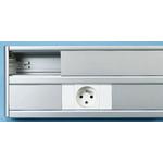Planet-Wattohm Grey Dado Trunking, W50 mm x D50mm, L2m, Aluminium