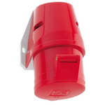 Bals IP44 Red Wall Mount 3P+N+E Industrial Power Socket, Rated At 32.0A, 415.0 V