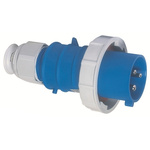 Bals IP67 Blue Wall Mount 2P+E Industrial Power Plug, Rated At 32.0A, 230.0 V