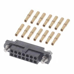 M80 Connector Kit Containing 14 Barrel Crimp Contacts Loose, Crimp Shell, Housing with Hexagonal Slotted Jackscrews