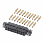 M80 Connector Kit Containing 20 Barrel Crimp Contacts Loose, Crimp Shell, Housing with Hexagonal Slotted Jackscrews