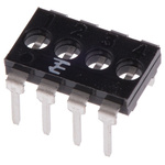TE Connectivity Shunt Black DIP Switch 8 Way 4 Row 2.54mm Pitch