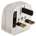 PowerConnections Europe to UK Mains Connector Converter, Rated At 3A