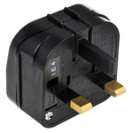 PowerConnections Europe to UK Mains Connector Converter, Rated At 2.5A