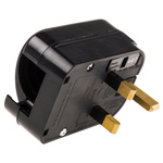 PowerConnections Europe to UK Mains Connector Converter, Rated At 10A