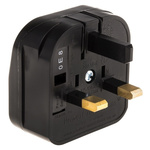PowerConnections Europe to UK Mains Connector Converter, Rated At 5A