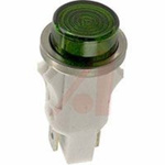 LED; Green; Neon; 0.5 in./0.505 in.; 105 to 125 VAC; Polished Stainless Steel
