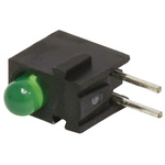 Bivar H100CGDL, Green Right Angle PCB LED Indicator, Through Hole 2.2 V