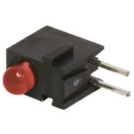 Bivar H100CHDL, Red Right Angle PCB LED Indicator, Through Hole 2.2 V