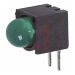Dialight 550-0205F, Green Right Angle PCB LED Indicator 5mm (T-1 3/4), Through Hole