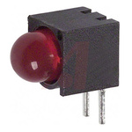 Dialight 550-0405F, Red Right Angle PCB LED Indicator 5mm (T-1 3/4), Through Hole