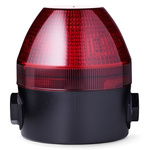 AUER Signal NES Red LED Beacon, 24-48 V AC/DC, , Multiple Effect, Surface Mount