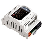 Carel DN33 PID Temperature Controller, 144 x 70mm, 2 Output Relay, 24 V ac/dc Supply Voltage