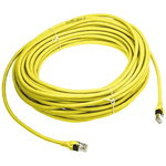 HARTING Yellow Cat6 Cable SF/UTP PUR Male RJ45/Male RJ45, Terminated, 20m