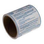 SCS Blue Paper ESD Label, Moisture Sensitive Caution Label-Text 102 mm x 102mm