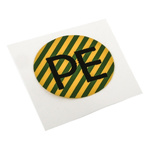TE Connectivity Black/Green/Yellow Vinyl Safety Labels, PE-Text 16 mm x 16mm