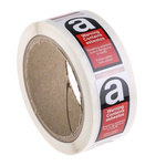 RS PRO Black/Red/White Vinyl Safety Labels, Breathing Asbestos Dust Is Dangerous To Health, Follow Safety Instructions,