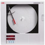 ABB C1911, Circular Chart Recorder Measures Resistance, Temperature, Voltage