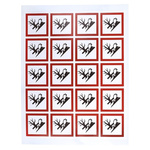 RS PRO Black, Red, White Gloss Polymeric Vinyl Safety Labels 40 mm x 40mm