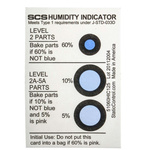 SCS Blotting Paper Impregnated With Cobaltous Chloride ESD Label, Humidity Indicator-Text 3 in x 2in