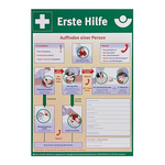 W Sohngen First Aid Safety Poster, Plastic, German
