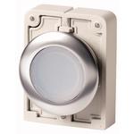 Eaton Flush White Push Button - Momentary, M30 Series, 30mm Cutout, Round