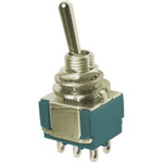 TE Connectivity SPDT Toggle Switch, On-(On), Panel Mount