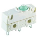 SPDT Button Microswitch, 5 A @ 250 V ac