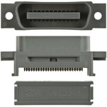3M Male 36 Pin Straight Cable Mount SCSI Connector 2.16mm Pitch, IDT
