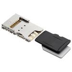 Molex, 104239 6 (Nano SD), 8 (microSD) Way MicroSD, Nano SIM Memory Card Connector With Solder Termination