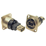 RS PRO CP Series 2 Way Straight Panel Mount Firewire Connector Socket