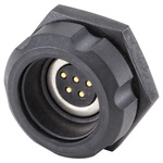 Rosenberger, RoDI® Rosenberger Diagnostic Interface, Straight Panel Mount Female Magnetic Connector, Solder Termination