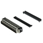3M Male 68 Pin Right Angle Cable Mount SCSI Connector 1.27mm Pitch, IDT