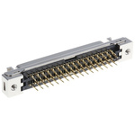 3M, 102 Female 68 Pin Straight Through Hole PCB D-sub Connector 1.27mm Pitch, Solder, Quick Latch