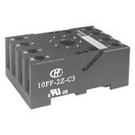 Hongfa Europe GMBH 8 Pin Relay Socket, DIN Rail for use with HF10FF & HF10FH Series Relays
