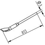 Ersa 452 Series Straight Knife Desoldering Gun Tip, 15 mm