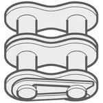 Renold Renold (Blue Box) 10B-2 Offset Link Steel Roller Chain Link