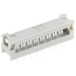 Harting 16-Way IDC Connector Plug for  Through Hole Mount, 2-Row