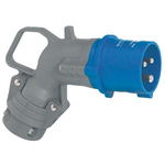 Legrand, HYPRA IP44 Blue Cable Mount 2P+E Right Angle Industrial Power Plug, Rated At 16.0A, 230.0 V