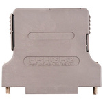 FCT FPHGR ABS Angled, Straight D-sub Connector Backshell, 25 Way, Strain Relief