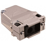 Harting Metal Angled D-sub Connector Backshell, 9 Way, Strain Relief