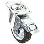 LAG Braked Swivel Swivel Castor, 180kg Load Capacity, 160mm Wheel Diameter