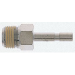 Norgren Threaded-to-Tube Pneumatic Fitting, R 1/4 to, Push In 6 mm, PNEUFIT Series, 18 bar