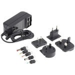 Egston, 30W Plug In Power Supply 24V dc, 1.25A, Level V Efficiency, 1 Output Switched Mode Power Supply, Interchangeable