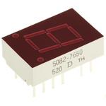5082-7650 Broadcom 7-Segment LED Display, CA Red 1.1 mcd LH DP 10.9mm