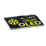 Electronic Assembly 2.9in Yellow OLED Display 128 x 64pixels I2C, SPI Interface