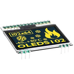 Electronic Assembly 1.7in Yellow OLED Display 102x64 Graphics I2C, SPI Interface