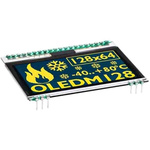 Electronic Assembly 2.3in Yellow OLED Display 128 x 64 Graphics I2C, SPI Interface