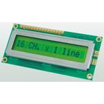 Displaytech 161A-BA-BC Alphanumeric LCD Display, Yellow on Green, 1 Row by 16 Characters, Reflective