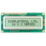 Displaytech 162C-BC-BC Alphanumeric LCD Display, Yellow on Green, 2 Rows by 16 Characters, Transflective